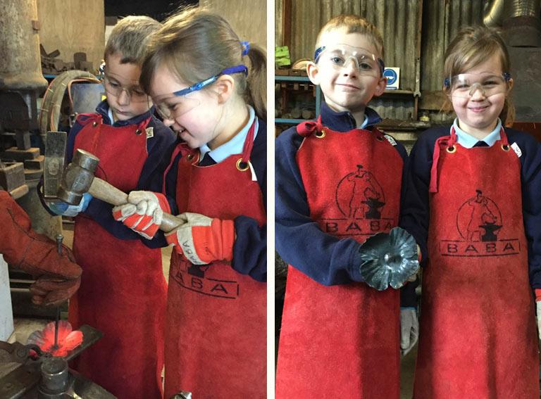 Left: Welsh Teamwork.    Right: Proud Poppy Makers.