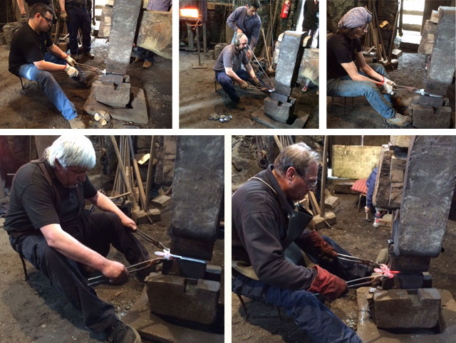 Poppy forging under the Maglio at Bienno Italy